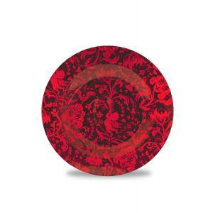 Piattino Rosso per candele grandi