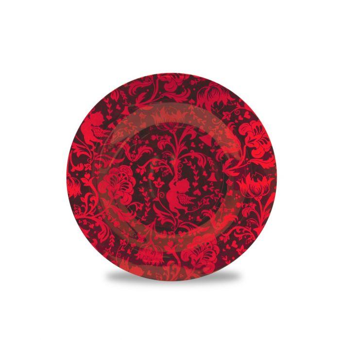 Piattino Rosso per candele grandi, Catalogo, SKU HHTB04, Immagine 1